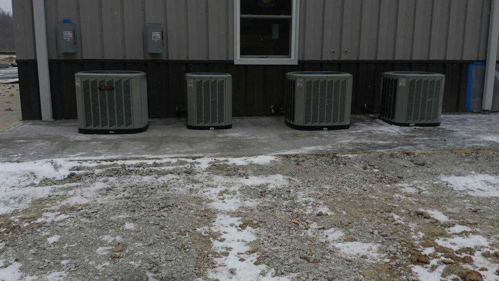 outdoor heating and cooling equipment