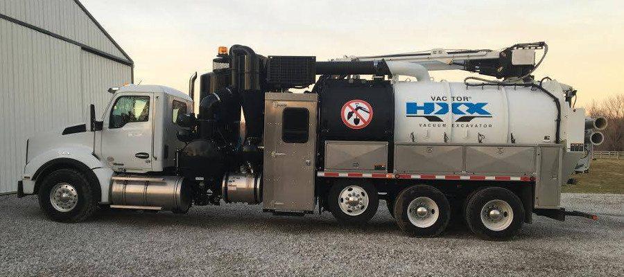 capital city mechanical's hydrovac truck